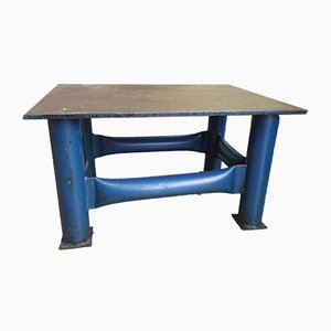 Vintage French Steel Workshop Coffee Table, 1950s