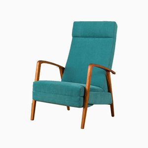 Lounge Chair with Footboard, 1960s