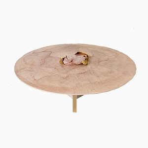 Tavolino da caffè con quarzo rosa di Marc D'Haenens, anni '80