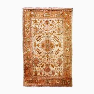 Antiker handgeknüpfter türkischer Oushak Teppich, 1880er
