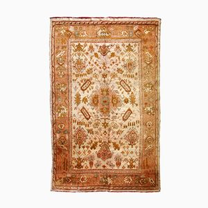 Antique Handmade Turkish Oushak Rug, 1880s