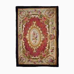 Handgefertigter flachgewebter antiker französischer Aubusson Teppich, 1860er
