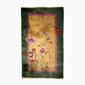 Art Deco Handmade Chinese Rug, 1920s
