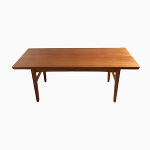 Mid-Century Swedish Adjustable Teak Table by O. Carlsson for Emmaboda Möbelfabrik, 1957