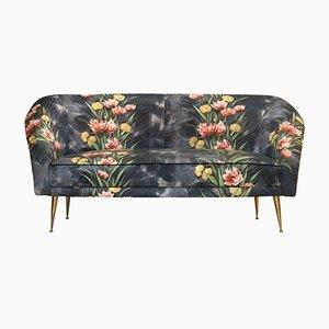 Mid-Century Sofa aus Bronze & Bezug, 1950er