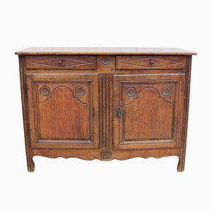 19th-Century French Oak Buffet