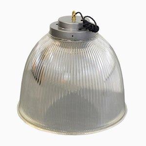 Grande Lampe à Suspension Industrielle de Holophane, 1950s