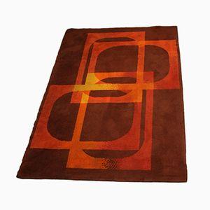 Vintage Orange and Brown Wool Carpet, 1960s