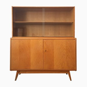 Wooden Sideboard with Bookcase by Bohumil Landsman & Hubert Nepozitek for Jitona, 1960s