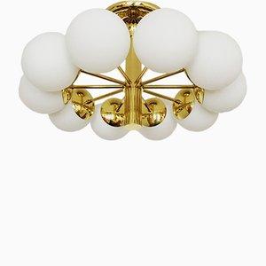 Große goldene Sputnik Deckenlampe von Kaiser Leuchten, 1960er