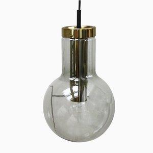 Lampe à Suspension Vintage en Verre Fumé par Frank Ligtelijn pour Raak, 1960s