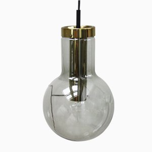 Vintage Smoked Glass Pendant Lamp by Frank Ligtelijn for Raak, 1960s
