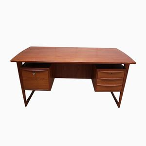 Vintage Teak Desk by Svend Aage Madson for Sigurd Hansen, 1960s