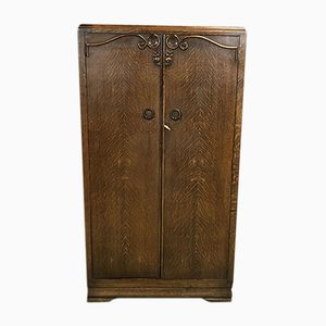 Small Oak Armoire, 1940s