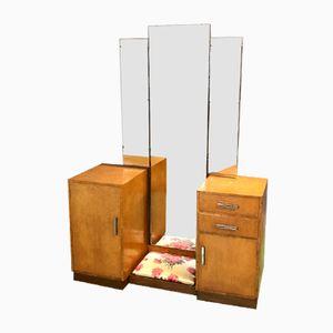 Art Deco Frisiertisch aus Ulmen-Wurzelholz von Frederick Restall