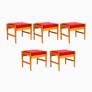 Vintage Stools, 1960s, Set of 5