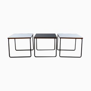 French Coffee Tables by Pierre Guariche for Steiner, 1960s, Set of 3