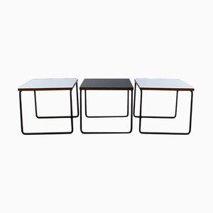 Tavolini da caffè di Pierre Guariche per Steiner, Francia, anni '60, set di 3