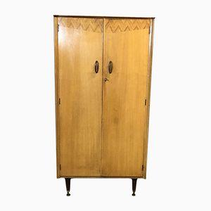 Small Oak Veneer & Mahogany Student Cabinet, 1960s