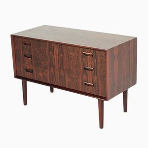 Vintage Rosewood Chest of 3 Drawers by Kai Kristiansen for FM Møbler