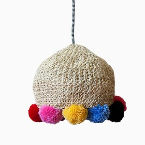 Medium Rope Lamp with Pompons by Com Raiz