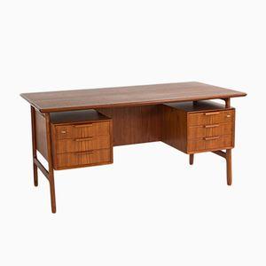 Schreibtisch aus Teak von Omann Jun, 1960er