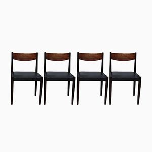 Rosewood Dining Chairs by Poul M. Volther for Frem Røjle, 1960s, Set of 4