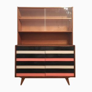 Vintage U 453 Dresser with Bookcase by Jiri Jiroutek for Interier Praha