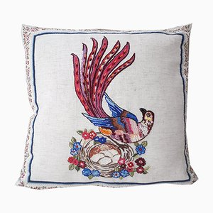 Bird of Paradise 4 Pillow by Com Raiz, 2018