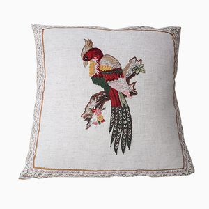 Bird of Paradise 5 Pillow by Com Raiz, 2018