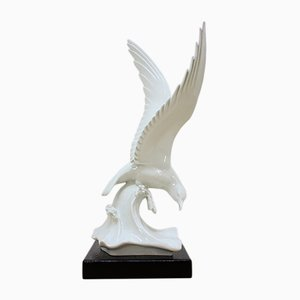 Vintage Porcelain Seagull by Max Esser for Meissen, 1930s