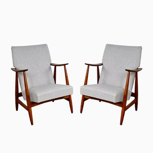 Lounge Chairs by Louis Van Teeffelen, 1960s, Set of 2