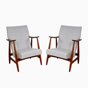 Sessel von Louis Van Teeffelen, 1960er, 2er Set