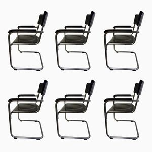 Tubular Steel Chairs, 1930s, Set of 6