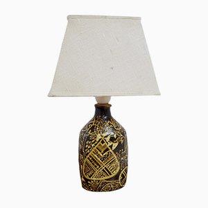 Lámpara de mesa Mid-Century de cerámica de Nils Thorsson para Royal Copenhagen, años 60