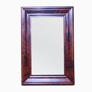 Antique Mahogany Framed Mirror, 1890s