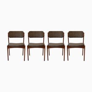 Chaises de Salle à Manger par Erik Buch, O.D. Møbler, 1960s, Set of 4