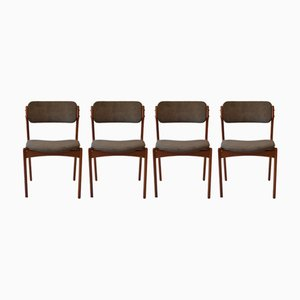 Dining Chairs by Erik Buch, O.D. Møbler, 1960s, Set of 4