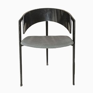Post Modern Metal and Ebonised Beech Tripod Chair, 1980s