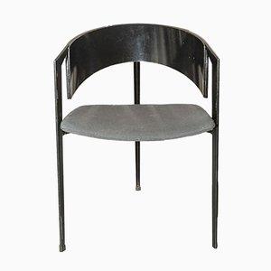 Post Modern Metal and Ebonised Beech Tripod Chair, 1980s