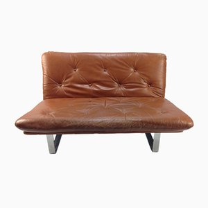 Vintage Leather Sofa by Kho Liang Ie for Artifort, 1960s