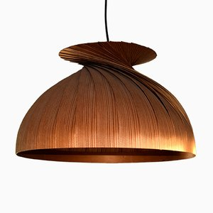 Mid-Century Slatted Pendant Light by Hans Agne Jakobsson for Ellysett Markaryd