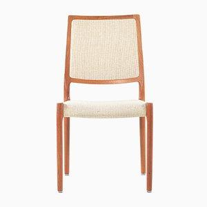 Sedie in teak e lana di Niels O. Møller per J.L. Møllers, anni '60, set di 4
