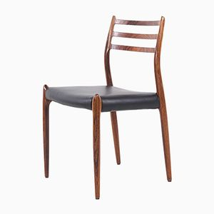 Model 78 Rosewood Chairs by Niels Otto Møller for J.L. Møllers, 1960s, Set of 6