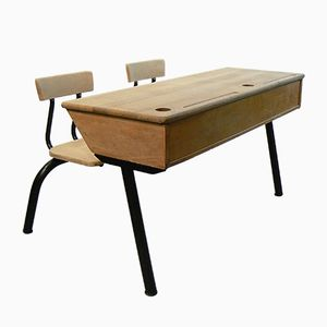 Large Double Seated Childs Desk Lectern from Stella, 1950s