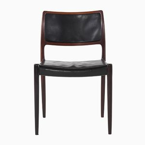 Model 80 Rosewood & Leather Chairs by Niels Otto Møller for J.L. Møllers, 1968, Set of 4