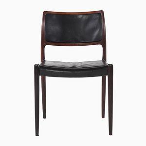 Modell 80 Stühle aus Palisander & Leder von Niels Otto Møller für J.L. Møllers, 1968, 4er Set