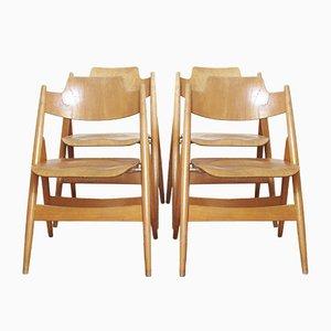 Vintage SE18 Folding Chairs by Egon Eiermann for Wilde+Spieth, 1950s, Set of 4
