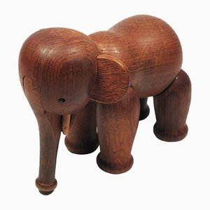 Figurine Elephant Vintage en Teck par Kay Bojesen, 1960s