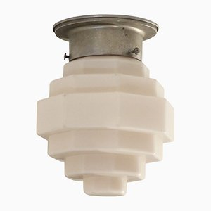 Scandinavian Functionalist Flush Mount Ceiling Light, 1950s